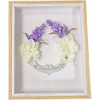 Sweet Pea Designs Wedding Congratulations Box Frame Congratulations