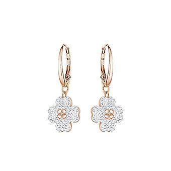 Swarovski Earrings by Donna Latisha - White - Rose Gold Plate