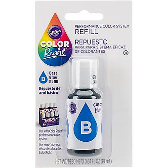 Color Right Food Color System Refill .7oz-Blue CR610-951