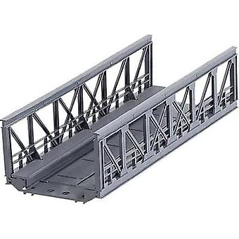 H0 Truss bridge 1-rail H0 Märklin C (incl. track bed) (L x W x H