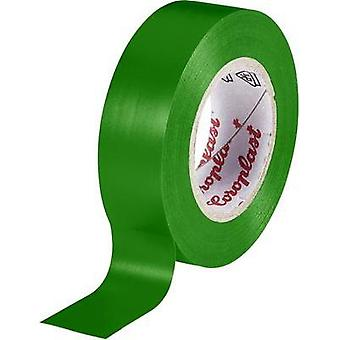 Electrical tape Coroplast Green (L x W) 10 m x 15 mm Acrylic Content: 1 Rolls