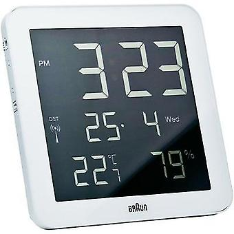 Radio Wall clock Braun 66028 210 mm x 210 mm x 23 mm White