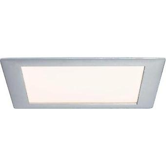 Recessed panel Premium Line 8 W LED brushed aluminium Warm white, square, 1 pc. set 1x8 W, 8 VA, 350mA, incl. bulb