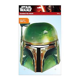 Boba Fett Star Wars oficial tarjeta Fiesta mascarilla