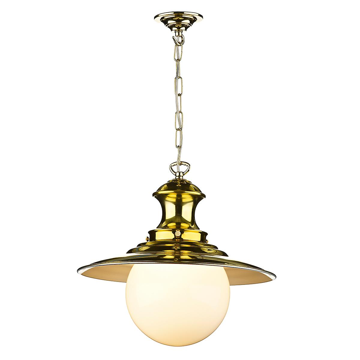 David Hunt EP40 Station Large Pendant Lamp In Polished Brass