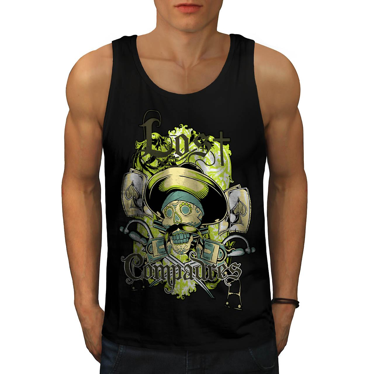 Lost Compadres Team Mexico Man Men Black Tank Top | Wellcoda