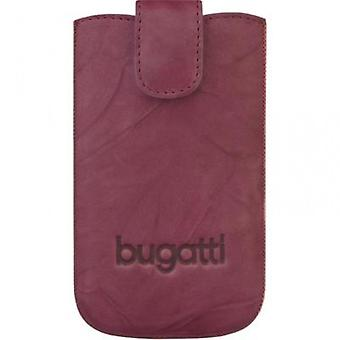 Bugatti unique M leather pocket case for smartphones - Burgundy Red