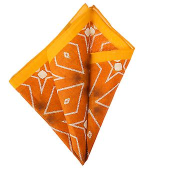 Pellens & Loïck handkerchief Hanky Pochette patterned Orange 33 x 33 cm