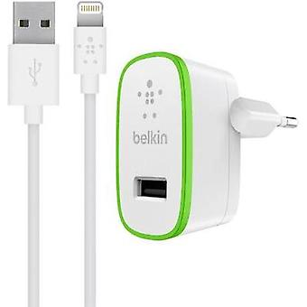 iPad/iPhone/iPod charger Mains socket Belkin F8J125vf04-WHT Max. output current 2400 mA 1 x USB, Apple Dock lightning p