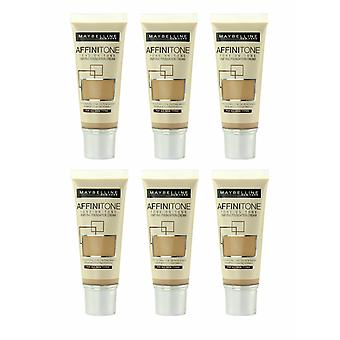 3 x Maybelline Affinitone Unifying Foundation Cream 30ml - Various Shades
