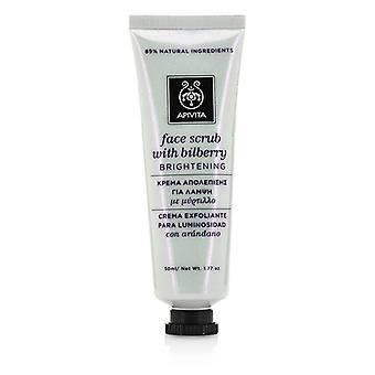 Apivita Face Scrub with Bilberry - Brightening 50ml/1.77oz