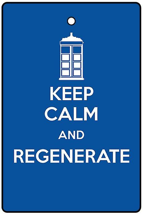 Keep Calm And Regenerate Car Air Freshener