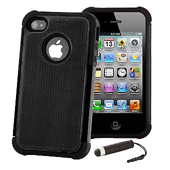 Shock Proof Case Cover voor Apple iPod Touch 5 - zwart