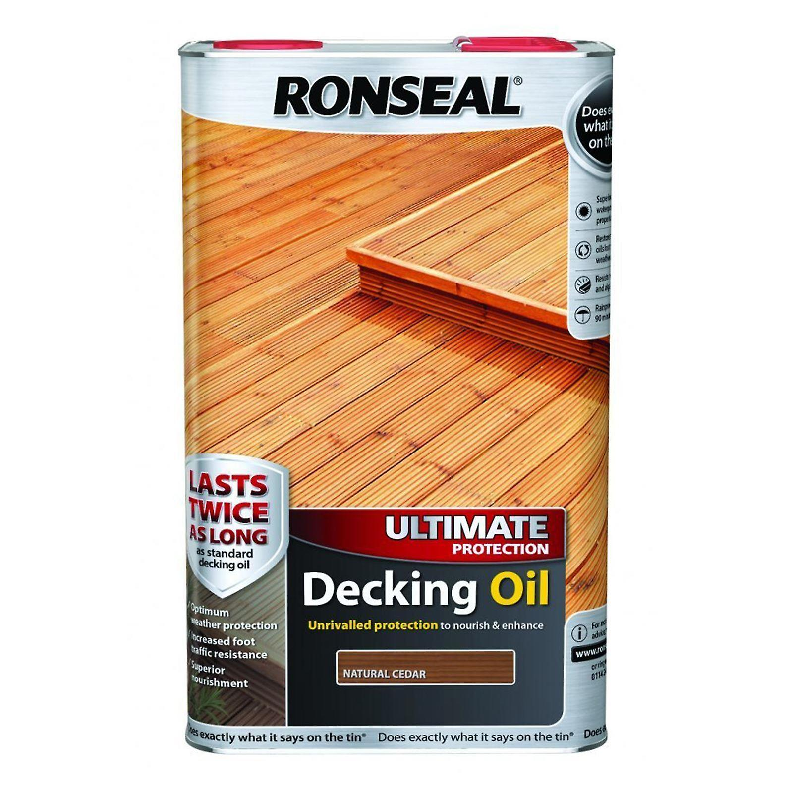 Ronseal Ultimate Protection Decking Oil 5 Litre - Natural Cedar