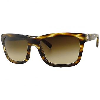 Dolce & Gabbana Ex-Display Dolce & Gabbana Men's Matte Tortoiseshell Wayfarer Sunglasses With Bronze Gradient Lenses