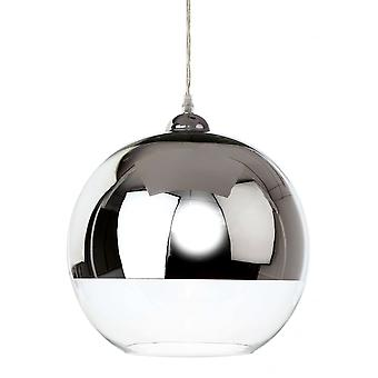 Firstlight Modern Zen Chrome Globe Light Pendant