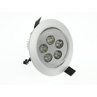 I LumoS High Quality Epistar 5 Watts Silver Circle Aluminium Warm White LED Tiltable Recessed Spot Down light