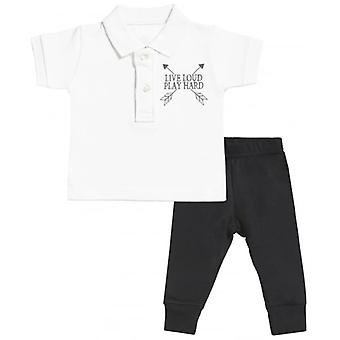Verwend rotte Live luid Baby Polo T-Shirt & Baby Jersey broek Outfit Set