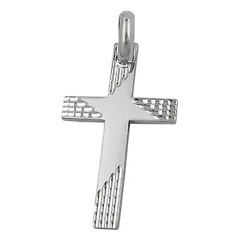 Pendant cross silver cross pendant matt diamantiert rhodium plated Silver 925
