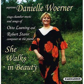 Danielle Woerner - hun går i skønhed-sange af Lueni [CD] USA import