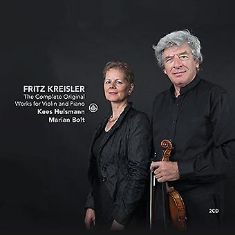 Kreisler / Hulsmann, Kees / Bolt, Marian - Kreisler: komplet originale værker for Violin & Piano [CD] USA import