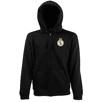 HMS Liverpool Embroidered Logo - Official Royal Navy Zipped Hoodie Jacket