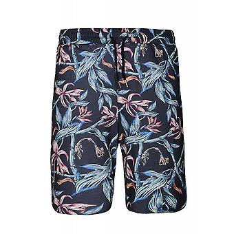 JUNK YARD link shorts men's leisure shorts Blau allover print