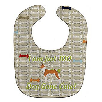 Carolines Treasures  BB6579BIB Basenji Dog Gone Cute Baby Bib