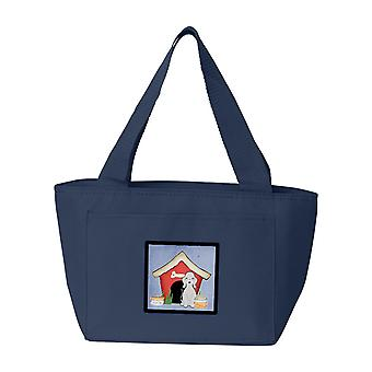 Cane casa collezione Bedlington Terrier blu Lunch Bag