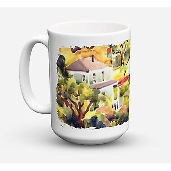 Houses Dishwasher Safe Microwavable Ceramic Coffee Mug 15 ounce