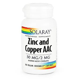 Solaray, Zinc & Copper AAC 60 Vcaps