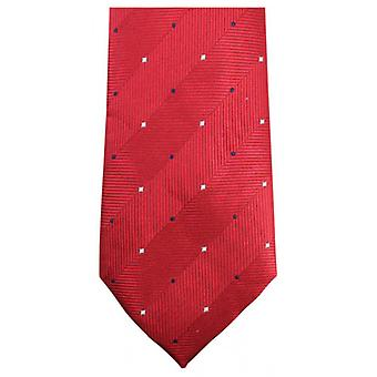 Knightsbridge Neckwear Double Pattern Tie - Red