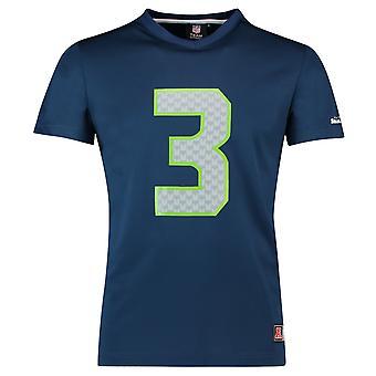 Majestueuze NFL Jersey shirt - Seattle Seahawks #3 Wilson marine