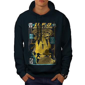 Flying Object Magazine Men NavyHoodie | Wellcoda