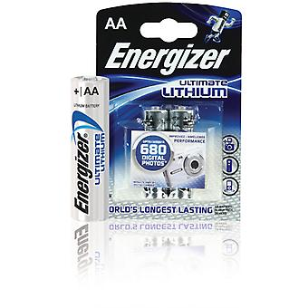 Energizer Ultimate Lithium-Batterien Fr6 Enlithiumaap2 2-blister