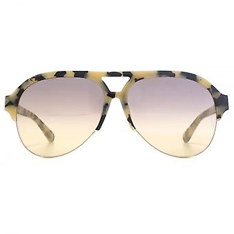 Stella McCartney Falabella Pilot Sunglasses In Beige Havana