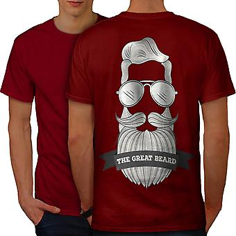 Hipster Beard Fashion Men RedT-shirt Back | Wellcoda