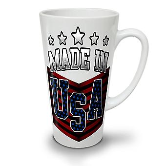 Made in USA NEW White Tea Coffee Ceramic Latte Mug 17 oz   Wellcoda