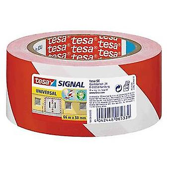 Marking tape Red, White (L x W) 66 m x 50 mm tesa