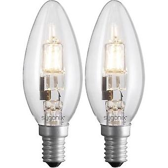 Eco halogen Sygonix 230 V E14 42 W Warm white EEC: C Candle shape dimmable 2 pc(s)