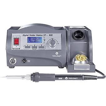 Soldering station Digital 80 W TOOLCRAFT ST-80D +150 up to +450 °C