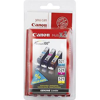 Canon Ink CLI-521 CMY Original Set Cyan, Magenta, Yellow 2934B010