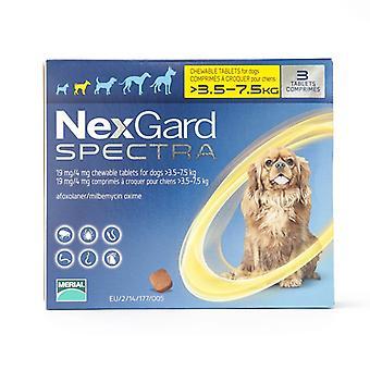 نيكسجارد الأطياف الكلاب الصغيرة 3.5-7.5 كجم 6 حزمة