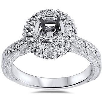 5/8ct Diamond Engagement Ring Setting White Gold Mount