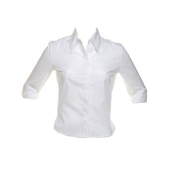 Kustom Kit Womens Continental Blouse 3/4 Sleeved Shirt