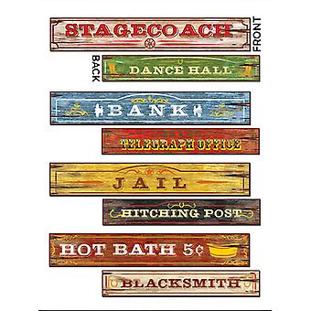 Western Sign Cut Outs (4 in a pack)
