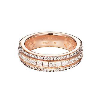 ESPRIT women's ring silver Rosé gold cubic zirconia exquisite ESRG92334B1