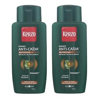 Kerzo Shampoo anti fall nourishing dry hair 2x400 ml