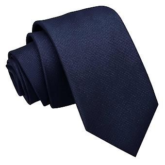 Cravate Slim bleu marine solide Check