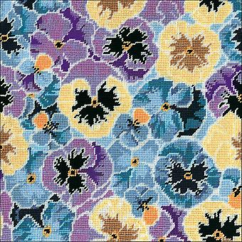 Pansies Needlepoint Kit-12